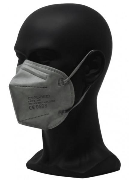 FFP2, Mund-/Nasenschutz in Farbe hellgrau (10 Stück)