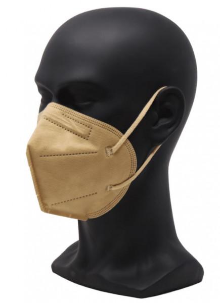 FFP2, Mund-/Nasenschutz in Farbe beige (10 Stück)